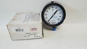 New Old Stock Ashcroft 0 100psi Duragauge Pressure Gauge 45 1279 ss 04l 100