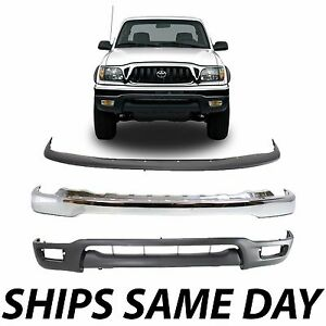 New Complete Front Bumper Air Deflector Combo Kit For 2001 2004 Toyota Tacoma