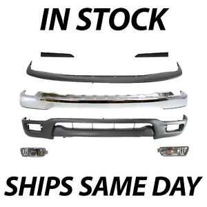 Complete Front Bumper Combo Filler Kit W Fog Lights For 2001 2004 Toyota Tacoma