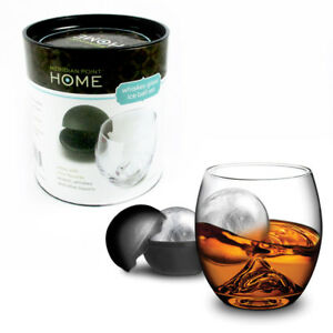 2 Pc Whiskey Glasses Set Silicone Ice Ball Mold Maker 2.5