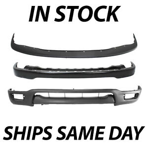 New Complete Steel Front Bumper Deflector Combo Kit For 2001 2004 Toyota Tacoma