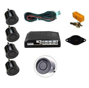 Black 4 Point Rear Reverse Parking Sensor Kit With Speaker Alfa Romeo Mito