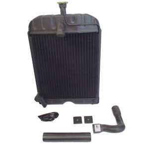 8n8005 Radiator W Pads Hoses And Original Style Cap For Ford 2n 8n 9n Tractor