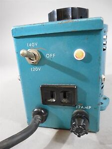 Staco Variable Auto Transformer Type 2pf 1010 Input 120 Kva 1 4 Freq 50 60 Used