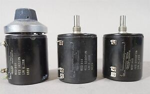 Spectrol Precision Potentiometer Mod 860 Asst Used Lot Of 3