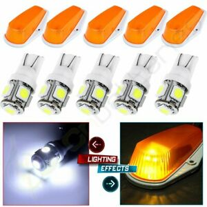 5x For Ford F150 F250 F350 Running Roof Top Cab Clearance Lights Amber 194 Leds