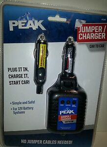 Peak Jumper Charger Plug Charge It Start Car No Jumper Cables Needed Pkcoar
