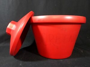 Laboratory Red Polyurethane Foam 4l 11 Diameter Insulated Ice Bucket With Lid