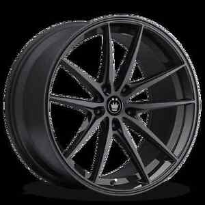 19x8 5 Konig Oversteer 5x114 3mm 30 Black Wheels Fits Civic Veloster Eclipse