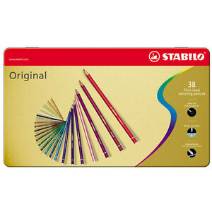 Stabilo Original Colouring Pencils Tins Of 12 24 36 Available All Colours