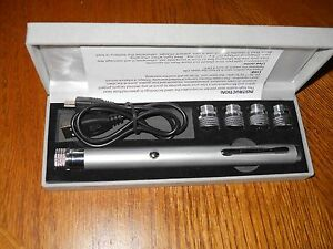 New 2018 Silver Monster Green Laser Pointer 5 Mw 5 Tips And Usb Rechargable