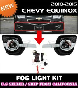 complete Fog Light Kit For Chevrolet 10 15 Equinox w Switch wiring covers