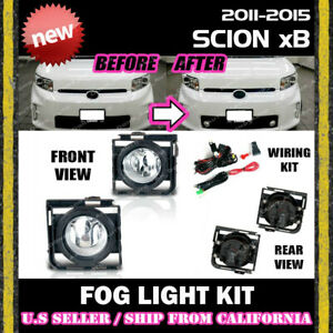 11 12 13 14 15 Scion Xb Fog Light Driving Lamp Kit W Switch Wiring clear