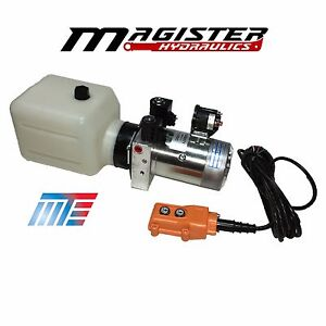 Hydraulic Power Unit Double Acting 12v Dc Dump Trailer 3 Quart With Remote New