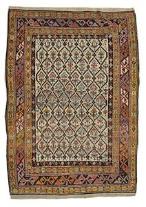 Handmade Shirvan Circa 1900 6 X 5 Antique Rug Carpet Wool Free Shipping