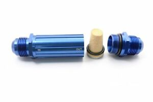 An 6 An06 Blue Anodised Billet Magnetic Fuel Filter 30 Micron An6 Dash 6