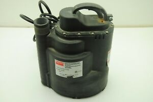 Dayton 3yu58a Submersible Sump utility Pump 1 3 Hp 115v 60hz 2 5a