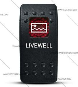 Labeled Contura Ii Rocker Switch Cover Only Livewell Red Window