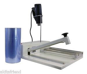 12 Shrink Wrap Machine Heat Sealer System Heat Gun And 500 Ft Film Included
