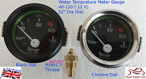 Vintage Car Universal Auto Water Gauge Temperature Sensor Meter Pointer 40 120