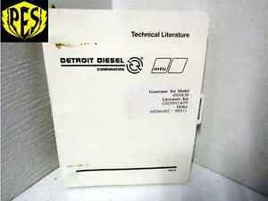 Detroit Diesel Generator Set Manual 40dsejb Gm20845 kps John Deere