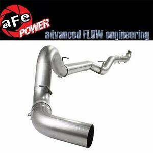 Afe 5 Stainless Down Pipe Back Off Road Exhaust System For 07 5 10 Duramax