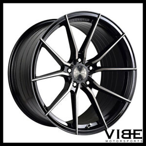 20 Vertini Rf1 2 Forged Black Concave Wheels Rims Fits Jaguar F Type