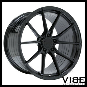 20 Vertini Rf1 2 Gloss Black Concave Wheels Rims Fits Nissan Gtr