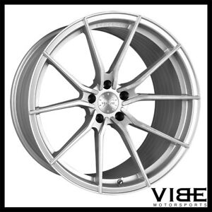 19 20 Vertini Rf1 2 Silver Concave Wheels Rims Fits Corvette C6 Grand Sport