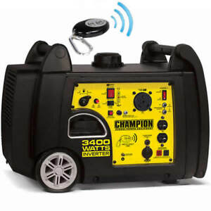 Champion 100261 3100 Watt Electric Start Inverter Generator W Rv Outlet