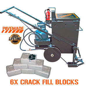 pavemade Hotbox 10 Combo 6 Blocks Rubberized Asphalt Crackfiller Sealcoating