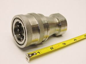 Stainless Steel Hydraulic Quick Coupler Fitting Hnv ss316 12 12c npt v New