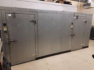 6x16 Walk in Refrigerator Two Compartment Used Free Shipping