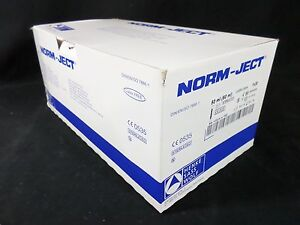 Norm ject Plastic 50ml cc 60ml Disposable Luer Lock Tip Syringes box Of 30