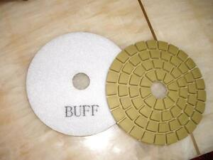 45 Pieces Of 4 Damo Glaze Buffing Pad For Granite Marble Stone Terrazzo Grinder