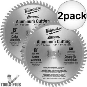 Milwaukee 48 40 4530 2pk 8 60 Teeth Aluminum Circular Saw Blade New