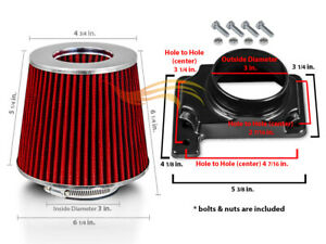 Mass Air Flow Sensor Intake Adapter Red Filter For 91 96 Mighty Max 3 0 2 4
