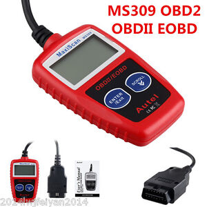 Ms309 Obd2 Obdii Eobd Scanner Code Reader Data Tester Auto Scan Diagnostic Tool