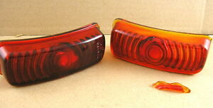 1936 Pontiac All Nos Tail Lamp Glass Lens Pair 918700