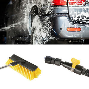 Telescopic Hose Water Fed Caravan Car Van Bus Window Wash Brush Extendable New