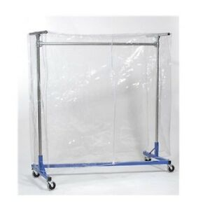 Clear Plastic Cover For Z Rack Heavy Duty Rolling Clothing Garment Clothes 66x63