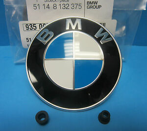 Genuine Bmw Hood Emblem Roundel Oem 51148132375 With Grommets 3 25