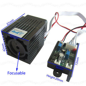 High Quality 12v 300mw 532nm Green Laser Module Focusable Ttl Continuous Work