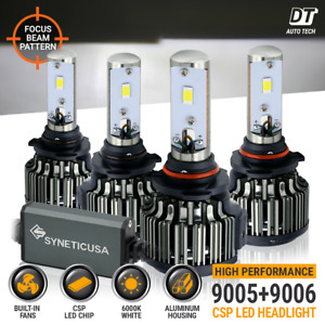 9005 9006 Led Combo Headlight Kit Cree Cob 240w Light Bulbs High