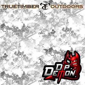 True Timber Snow Viper Camo Hydrographic Water Transfer Film Hydro Dip Dipping