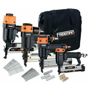 Freeman Finishing Stapler And Nailer 4 tool Combo Kit P4fncb New