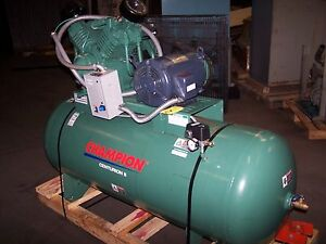 Champion Centurion Ii 10 Hp Air Compressor Hrv10 12 Rv30 230 Vac 120 Gallon Tank