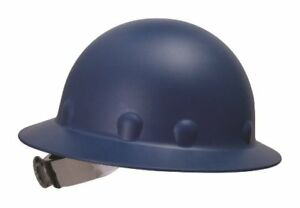 Fibre Metal Blue Roughneck Full Brim Fiberglass Hard Hat With Ratchet Suspension