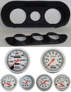 62 64 Nova Black Dash Carrier W Auto Meter Ultra Lite Mechanical Gauges