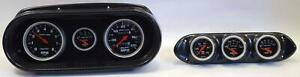 62 64 Nova Carbon Dash Carrier W Auto Meter Sport Comp Mechanical Gauges